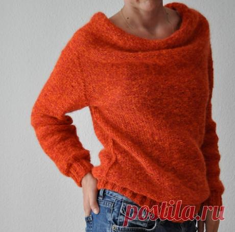 пуловер ворот-качели
