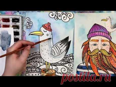 Рисуем чайку Беллу