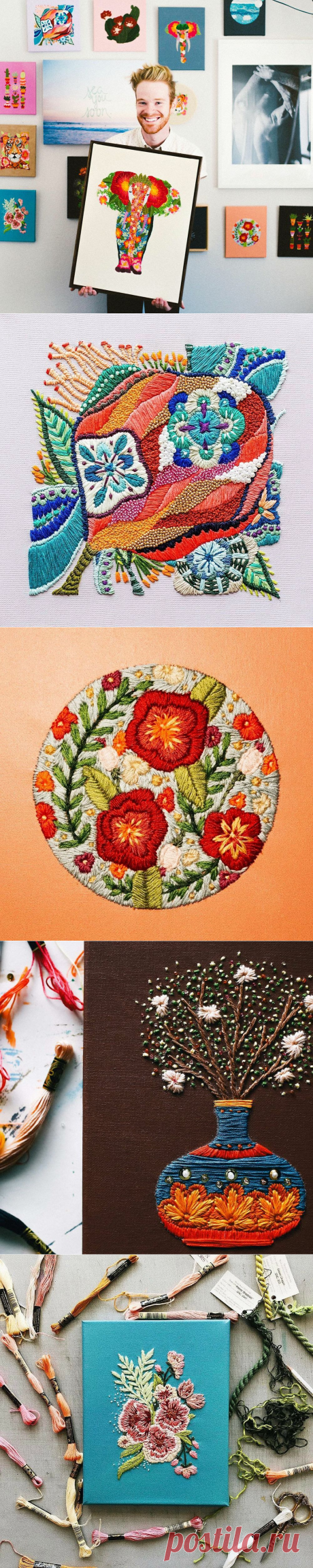 Flower paradise: bright embroidery of Walker Boyes