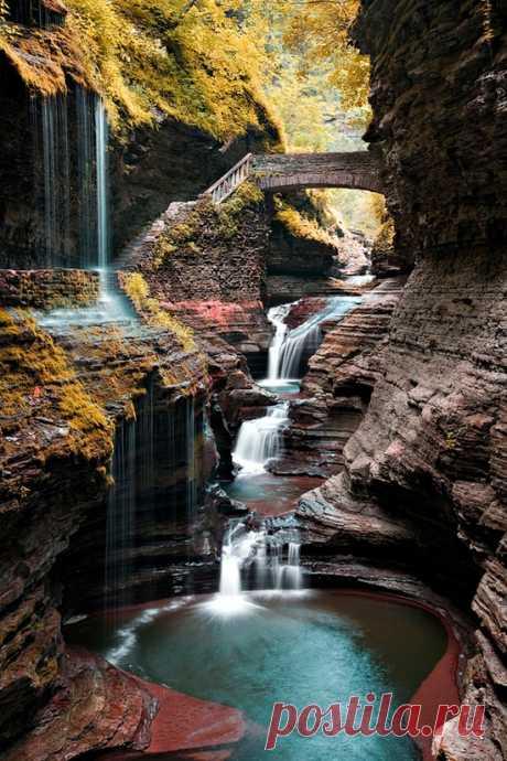 ¡La obra maestra natural! Votkins Glen Steyt el Parque, los EEUU