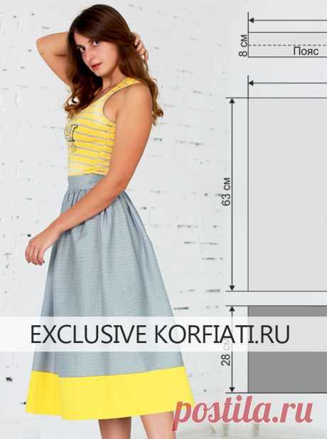 Как сшить юбку-татьянку - мастер-класс от Анастасии Корфиати