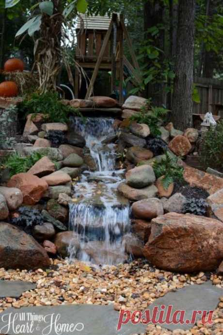 (1124) Pinterest - pondless waterfall!? We might need this one in the front yard! | Garden fountains