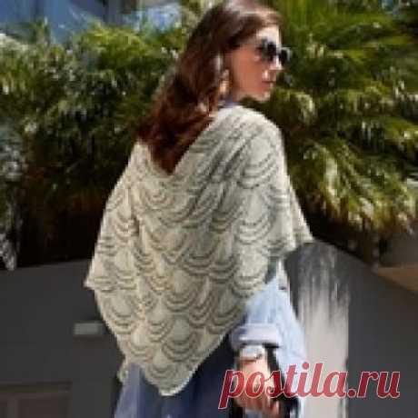 Великолепная шелковая шаль с узором «Веер»
