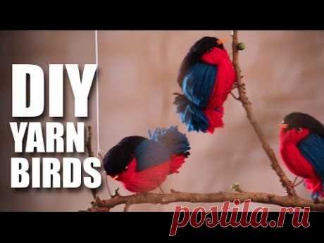 How to make DIY Fun Wooly Birds - YouTube