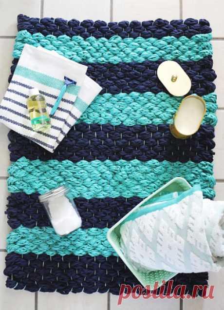 Коврик для пляжа из хлопковой трикотажной пряжи: станьте дизайнером своего отдыха! — Сделай сам, идеи для творчества - DIY Ideas