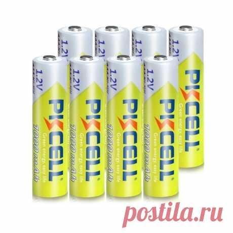 Аккумуляторы PKCELL AAA, 1.2 в, Ni-MH, 1000 мАч, 8 шт за 269 руб