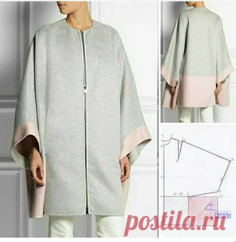 Выкройка пальто Fendi Модная одежда и дизайн интерьера своими руками