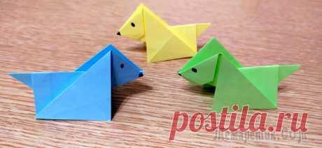 Собака из бумаги. Поделки оригами Как сделать собаку из бумаги своими руками. Оригами собачка из бумаги своими руками Собака из бумаги. Делаем бумажную собачку. Просто и быстро. Создание разнообразных фигур в технике оригами доступно ...