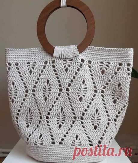 Красивый узор для вязаной сумки