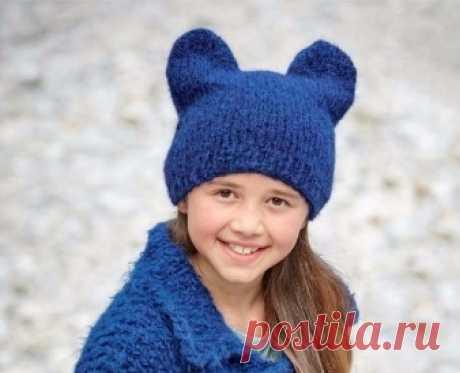 Комплект: шапка с ушками и жакет | vyazanielyboe.ru