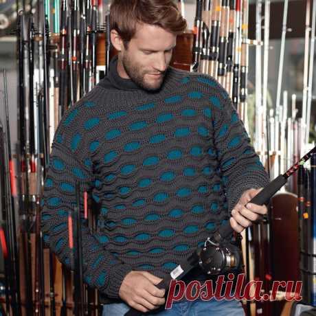 Джемпер с двухцветным узором - схема вязания спицами. Вяжем Джемперы на Verena.ru