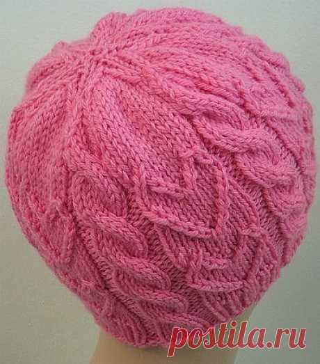 Hat spokes with the detailed description (Knitting by spokes)   the Inspiration of the Needlewoman Magazine