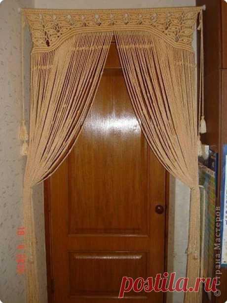 Макраме: шторка на дверь