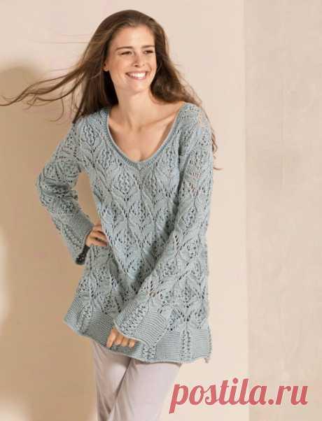 Пуловер Волтура спицами