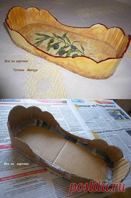 Хлебница из картона. Мастер-класс.