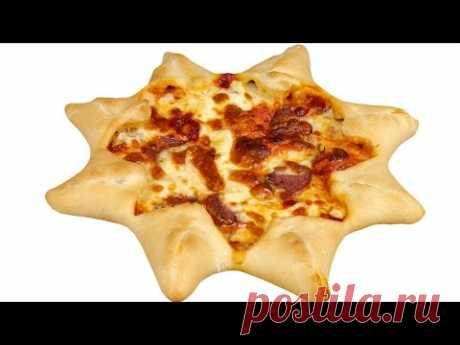 """Пицца """"Звезда"""". Пошаговый рецепт вкусной пиццы🍕 необычной формы."""
