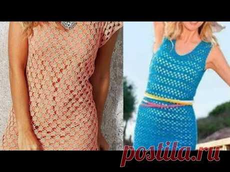 Вязание крючком Туника на лето схемы - Crochet Tunic for Summer schemes