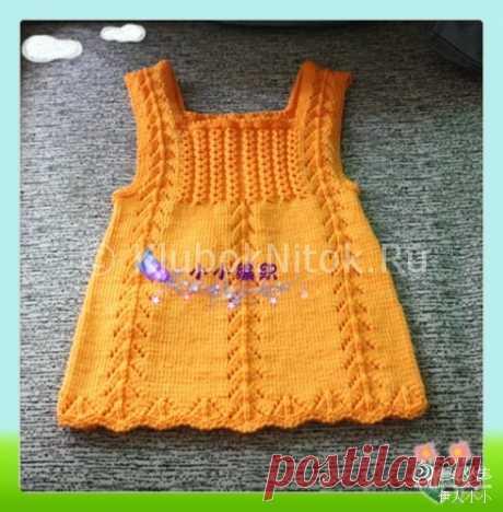Вязание сарафанчика - Детские вязаные платья и сарафаны. Схемы