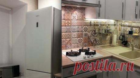 Симпатичный ремонт кухни 5 м² в хрущевке – редко кому удается все разместить так удобно – БУДЬ В ТЕМЕ