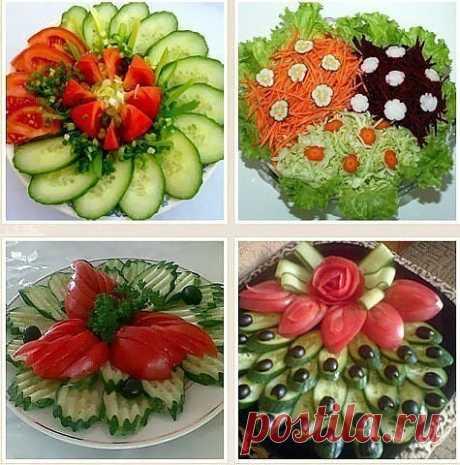 Красивая праздничная овощная нарезка! #закуски@em.doma