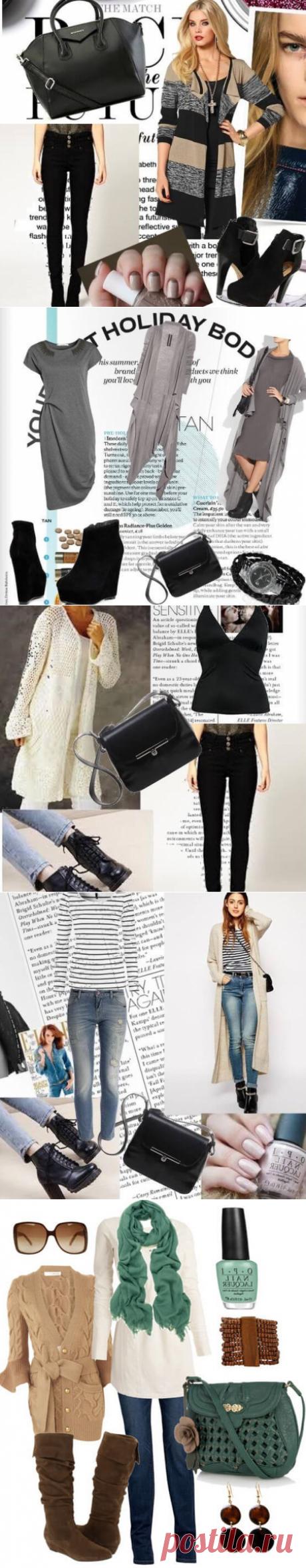 С чем носить длинный женский кардиган — фото модных сочетаний 2016 [modnaya24.com]