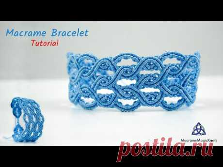 Красивый голубой браслет | Кельтский браслет
