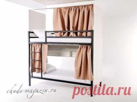 Двухъярусная металлическая кровать с закрытыми торцами КД-12