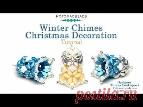 Winter Chimes Christmas Decoration - DIY Jewelry Making Tutorial by PotomacBeads