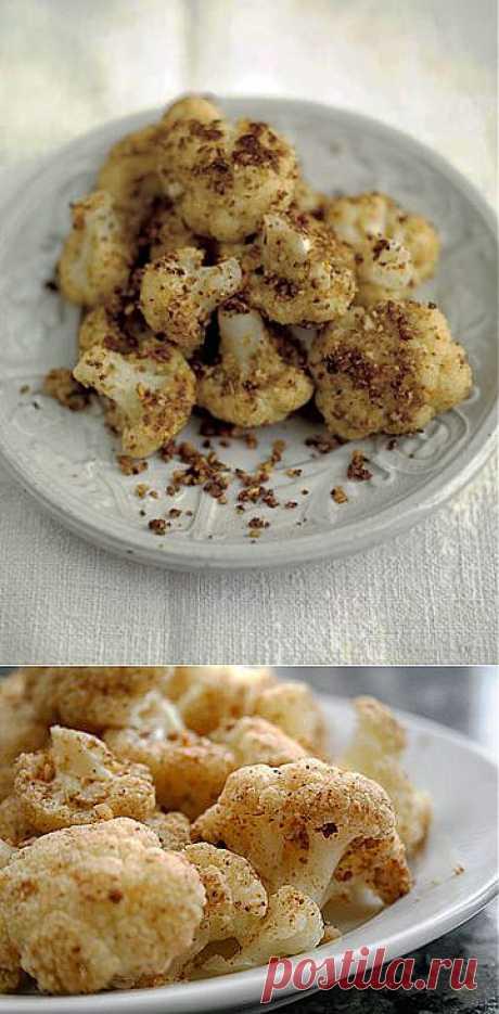 Рецепты постных блюд. Цветная капуста на сковороде | Домашняя кулинария