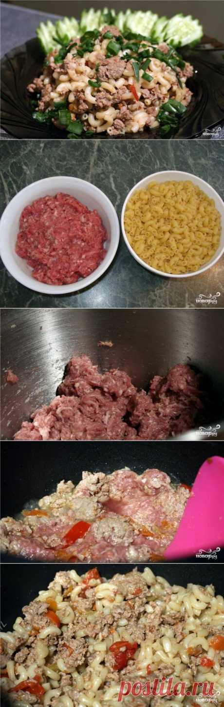 Macaroni in a naval way in the crock-pot - the step-by-step culinary recipe on Повар.ру