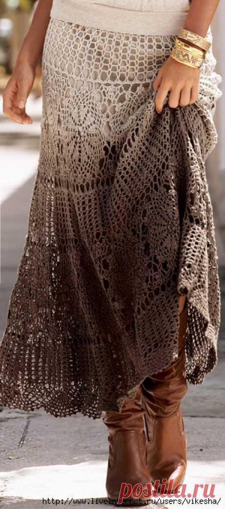 Вязание крючком юбки фото
