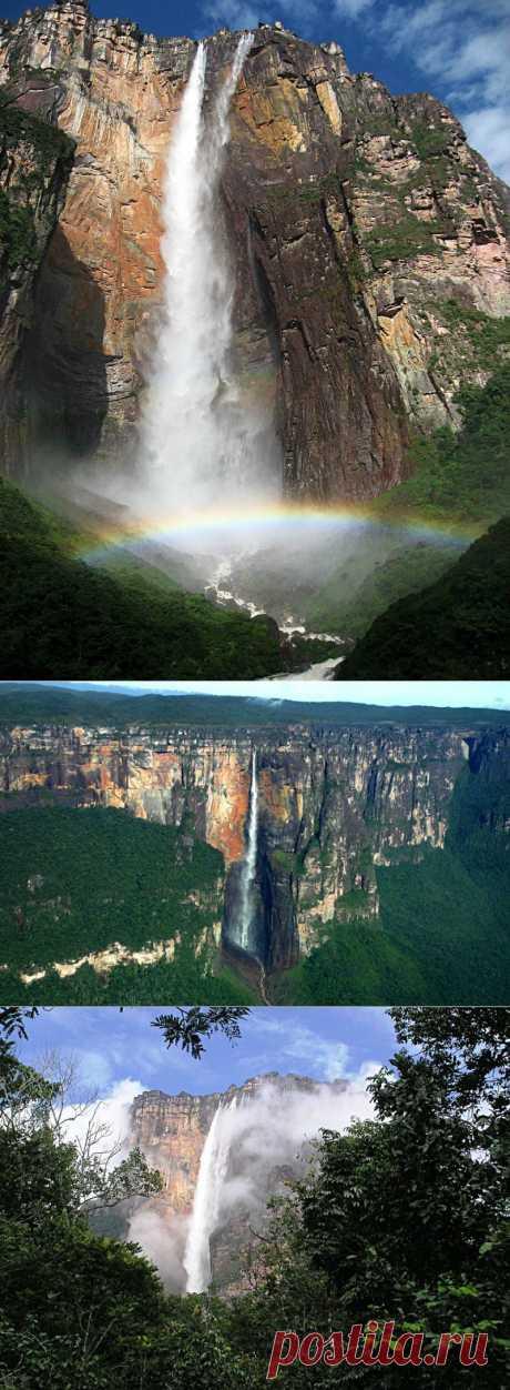 Водопад АНХЕЛЬ — самый высокий в мире.