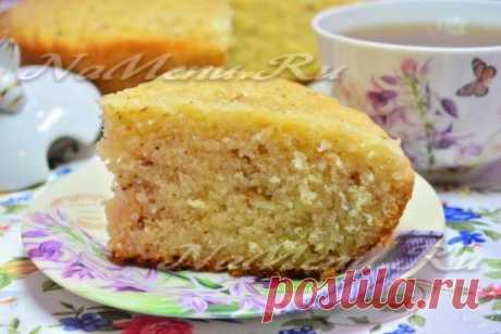 Ореховый пирог в мультиварке, рецепт с фото