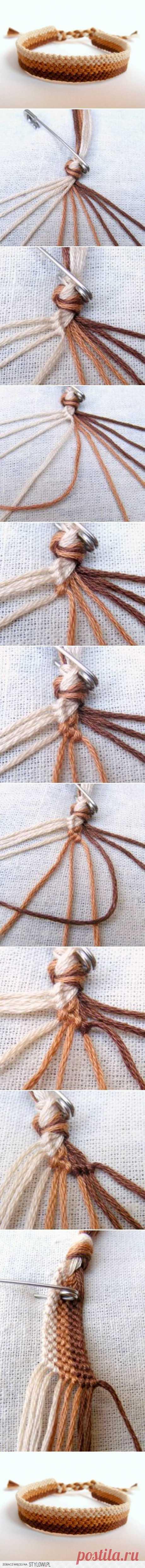 DIY Easy Weave Bracelet DIY Projects | UsefulDIY.com na Stylowi.pl