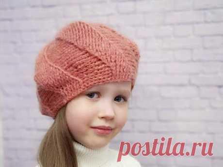 Берет крючком на осень//Как связать берет крючком//Crochet beret//