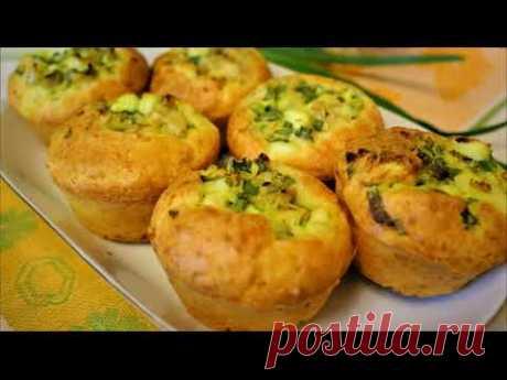 Вместо жаренных пирожков готовлю кексы с яйцом, капустой и зеленым луком - и вкусно и не жирно!