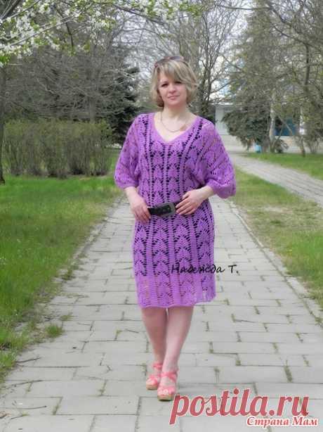Ажурная туника или платье)) - Вязание - Страна Мам