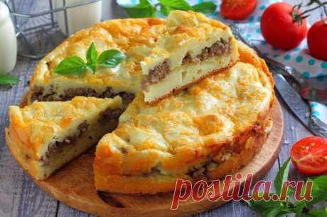 Пирог с фаршем и картошкой в духовке — Sloosh – кулинарные рецепты
