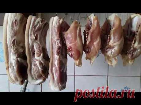 Холодное копчение мяса.Весь процесс:) Самодельная коптильня:)