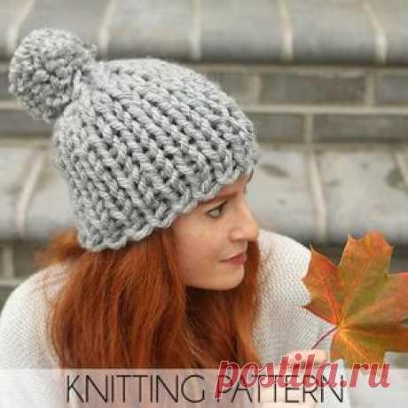 Flat Knit Chunky Hat Knitting Pattern – Gina Michele Knitting