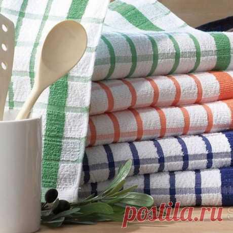 9 способов отстирать до белизны старые кухонные полотенца