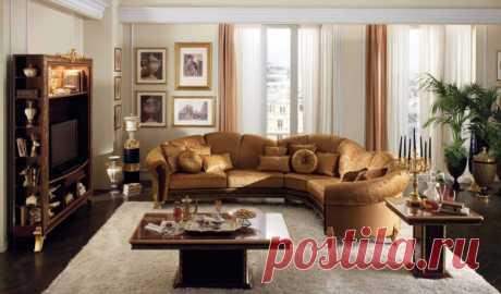 Угловая мягкая мебель для зала - 35 фото