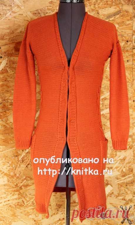 Cardigan spokes. Elena Petrova's work, Knitting for women