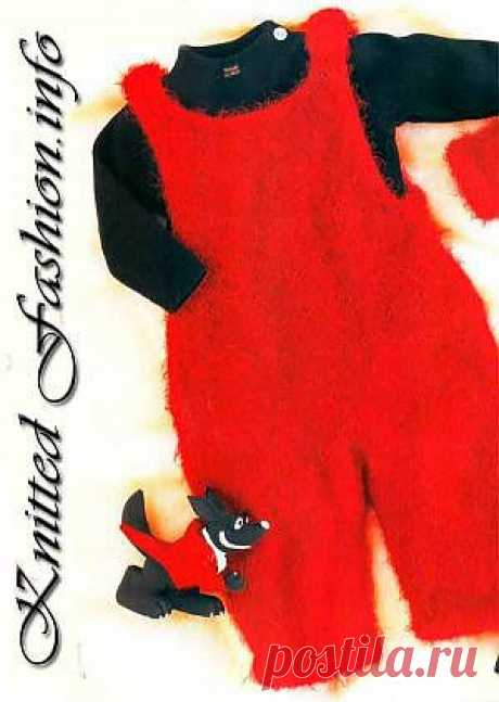 Fluffy semi-overalls - KnittedFashion.info