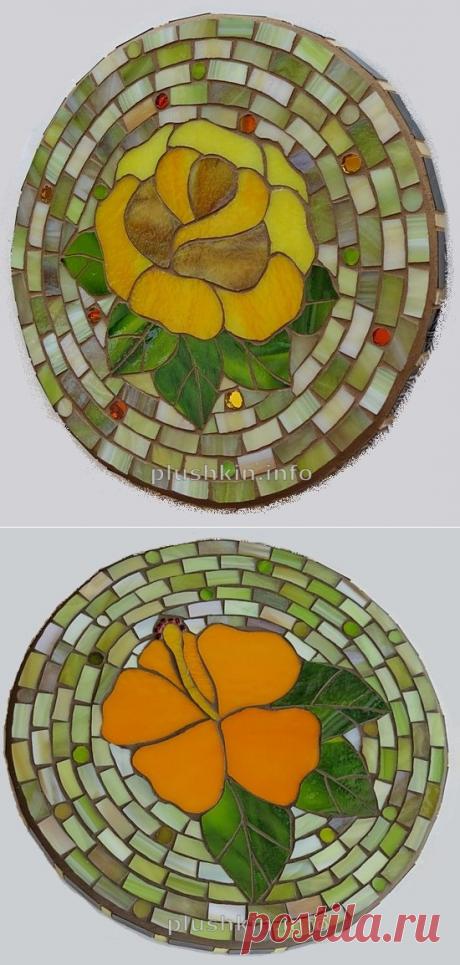 Подставки под горячее с мозаикой