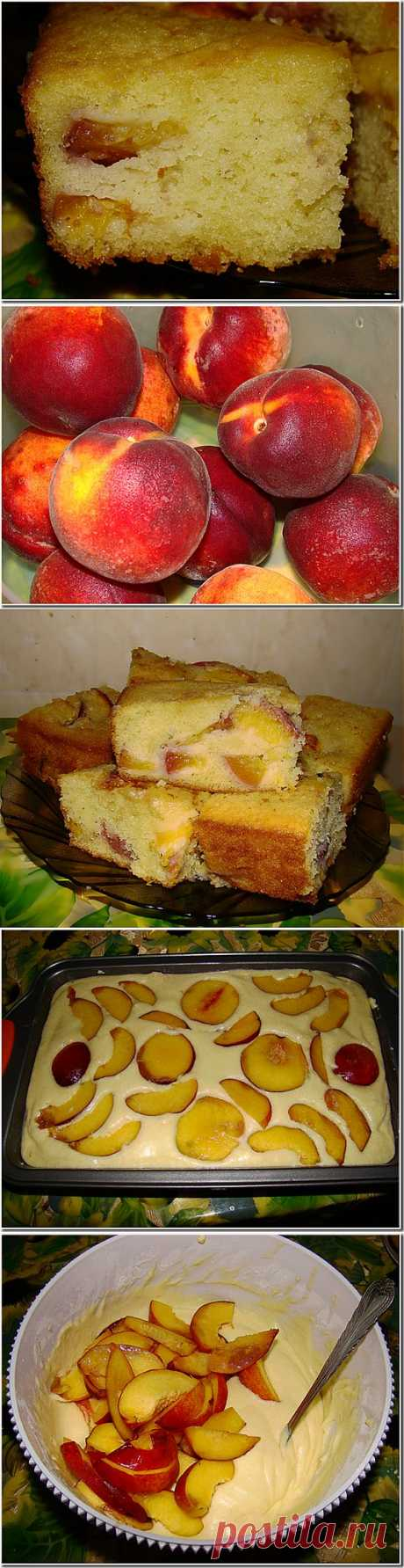 Вкусный персиковый пирог | One of Lady - Журнал для женщин