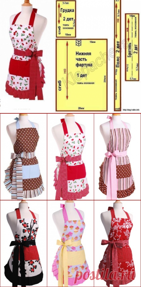 (+1) IDEAS AND PATTERNS OF APRONS FOR KITCHEN