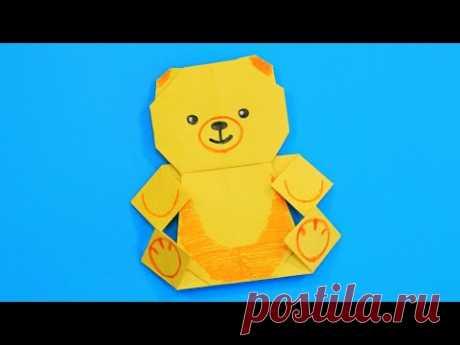 Простой Медвежонок из бумаги