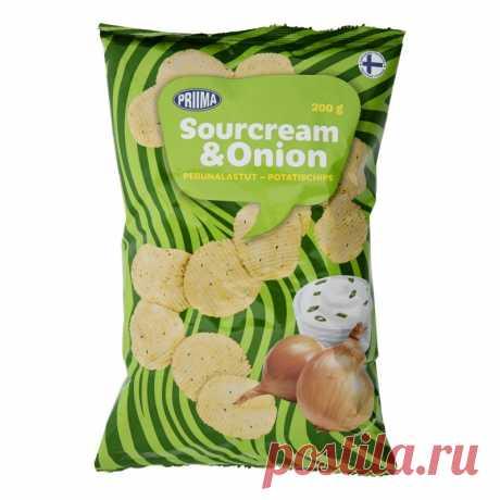 Чипсы Картофельные 200 г сметана & лук желательно Tokmannilta