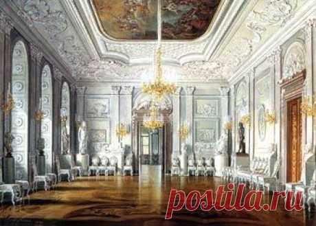 The White Hall in Gatchina Palace. Gatchina Palace grounds were badly damaged during WWII when the area was occupied by the German forces for two years... | Pinterest • el catálogo Mundial de las ideas